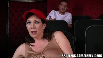 Brazzers - Dude fucks stepmom in the porn theater