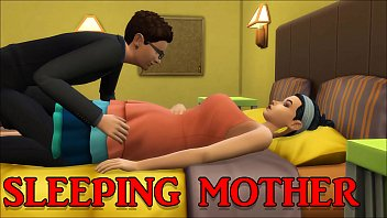 Son Fucks Sleeping Hot Mom After He Coming Home From Work