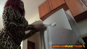 African Booty Drilled Hard In the Kitchen
