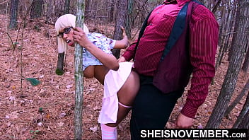 Family Trip With Stepdad & I Won't Tell Mom, Ebony Daughterinlaw Msnovember Sneaky Forest Fuck During Secrete Meet Up Hardcore Standing Doggystyle With Upskirt And Pink Thong Down Wearing Geek Glasses And Socks Outdoors by Sheisnovember