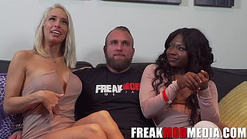 Noemie Bilas, Vannessa Skye, and the First White guy on FreakMobMedia.com