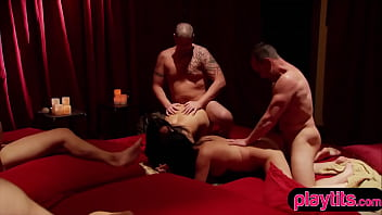 The swinger club residents welcome a new couple