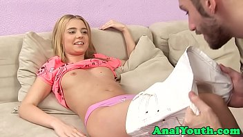 Asspounded eurobabe beauty rides cock