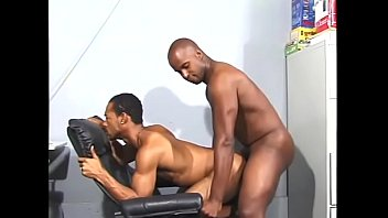 Black dong gay Hard body dude in chair blowing hunks dong and gets it up the ass