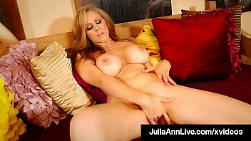 Big Boobed Mommy Julia Ann In Red Heels &amp_ Finger Banging!