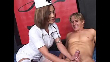 Asian tit and ass - Asian nurse rose sucks a thick dong and fucks it in bed