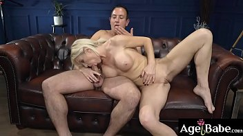 Mature woman Franny spread her legs to   take Rob's meaty cock inside her dripping   cunt