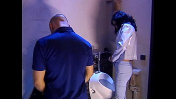 Interracial movie thumbs mature-toilet Public toilet meeting