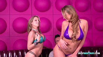 Busty Blonde Babes Share One Cock