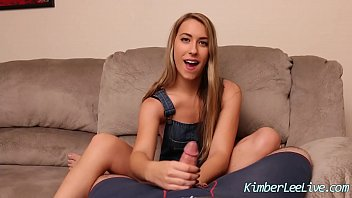 Teen Kimber Lee Jerks Off Her Step Dad For Revenge!