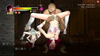 Guilty Hell action hentai ryona game new gameplay . Airi girl in hot sex with a lot of men in village