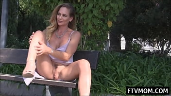 milf upskirt and masturbation in public