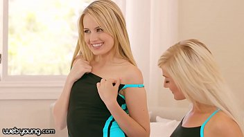 WebYoung Reluctant Teen Seduced by her Blonde Friends