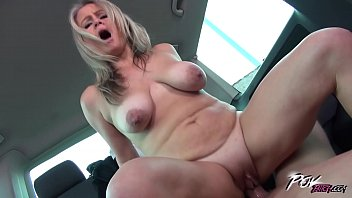 Hot moms boob Povbitch super hot mom with bouncing monster boobs ride the cock in car