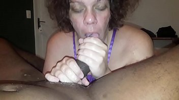 Bbw gives wet BJ to a BBC and squirts like a fountain (full video on RED)
