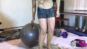 Super Fit Sexy Gym Girl - Naughty Workout Gunged