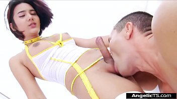 Facesitting trans gay bizzare shemale Asian shemale micky is barebacking a guy