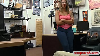 Woman with glasses railed by pawn man