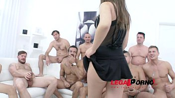 10 man gangbang for Anina Silk SZ1137