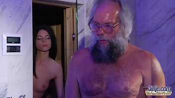 Teen Sensual Cock Massage and Pussy fuck with big dick grandpa super hot