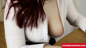 interview hot downblouse