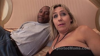 Busty Blonde Mom in Mature Interracial Video