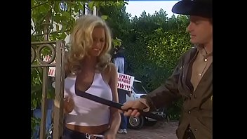 Young blonde student with  big melons Briana Banks was kept under arrest for unauthorized protest rally participation