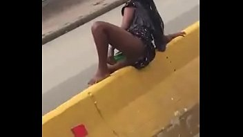 Venezuelan wanting to be a dick masturbates in the middle of the road.
