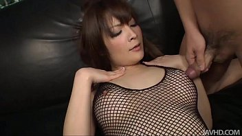 Pussy shaved woman Riona looks sexy in black and her husband bends her over to toy her pink pussy w