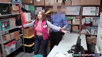 Mall officer bangs shoplifter Skylars pussy