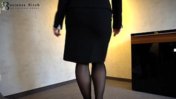 hot office clerk in stockings used for blowjob and frontal sex with cum shot in her face – business-bitch