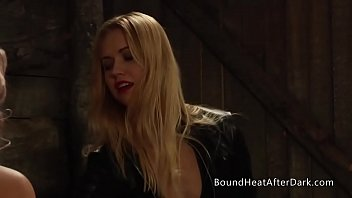 Chains of Pride: Mistress Whipping And Punishing Tied Up Blonde Lesbian Slave
