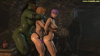DOA5 females getting fucked hard by ugly monsters 3D Porn 13 min