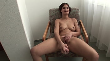 Milf is very excited about her first masturbation video