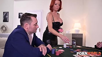 Strip-poker game ends with Veronica Avluv double penetrated in her holes 13 min
