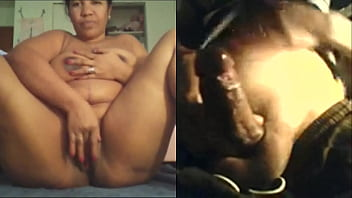 Beautiful Aunty got wild on camera after seeing her friends big penis part2