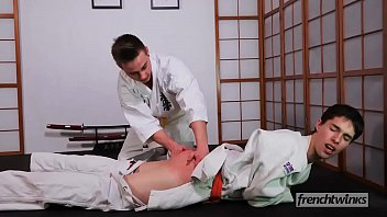 Gay french teen boys Two young judokas enzo lemercier timy detours fucking on the tatami