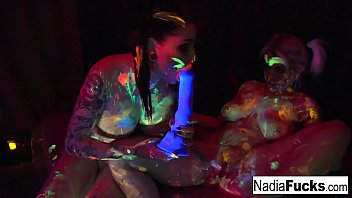 Nadia White and Ophelia suck off lucky guy