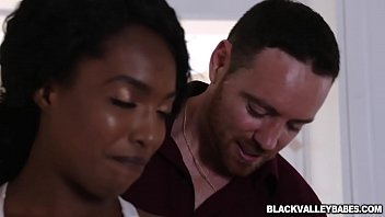 Preppy black teen pussy got romped doggystyle