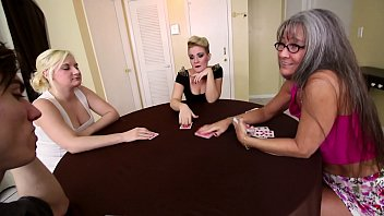 Family Strip Poker Game With Mom, Brother, and Sister