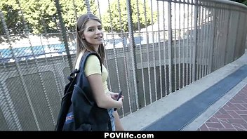 POVLife - Skinny Chick (Alice March) Offers Pussy For Free WIFI