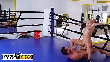 bangbros sweaty pawg nicole aniston fucks her trainer in boxing ring