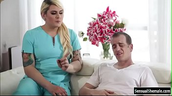 TS nurse Isabella fucks by Chads cock