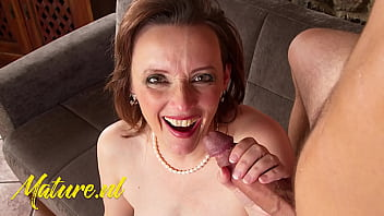 MatureNL - Horny Brunette MILF Pounded By a Big Cock POV Style