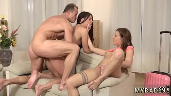 German girl old xxx Mom's 2 playfellow's daughters getting insane in