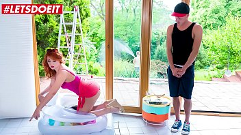 LETSDOEIT - #Nick Ross  #Eva Berger - Teasing Russian MILF Mom Hot Sex By The Pool With Her Shy Stepson