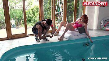 Streaming Video LETSDOEIT - #Nick Ross  #Eva Berger - Teasing Russian MILF Mom Hot Sex By The Pool With Her Shy Stepson - XLXX.video