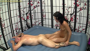 Gorgeous Brunette Gives Erotic Oil Body Massage and MORE!