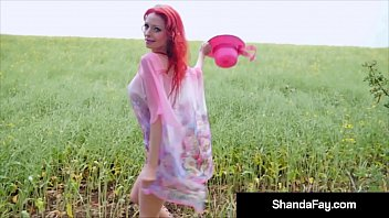 Horny Housewife Shanda Fay Sucks Her Man's Dick in the Middle of a Stormy Prairie! As the Storm comes right on top of them Shanda's Man Shoots His Load! Full Video & Live @ShandaFay.com!