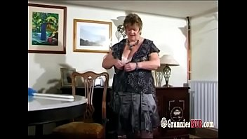Grannys boobs enormous Lovely bbw granny with huge tits striptease and masturbation